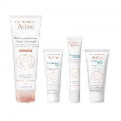 Avene pack Cleanance gel nettoyant + émulsion mat + expert soin + gommage