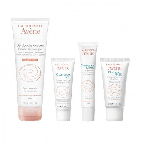 avene pack cleanance gel nettoyant mulsion mat expert soin gommage. Black Bedroom Furniture Sets. Home Design Ideas