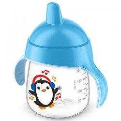 Avent gobelet anti fuite pinguin bleu 260ml