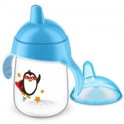 Avent gobelet anti fuite pinguin bleu 340ml