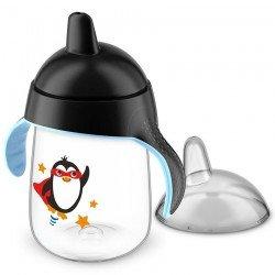 Avent gobelet anti fuite pinguin noir 340ml
