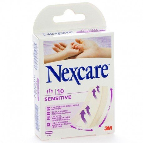 Nexcare sensitive bandes 10 x 10cm 10 n0910b