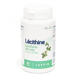 Leppin lecithine de soja gélules 60x(1200mg)
