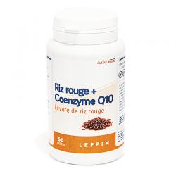 Leppin coenzyme q10 + levure riz rouge pot caps 60