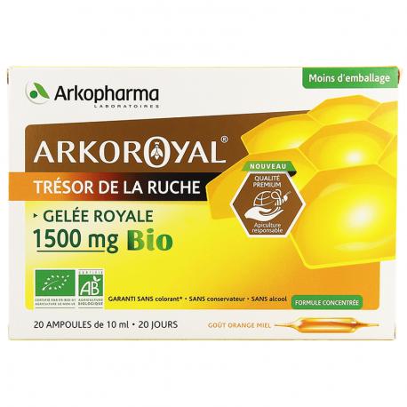 Arkoroyal Gelée Royale Bio 1500mg Ampoules 20x10ml