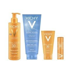 Vichy Pack Ideal Soleil SPF30 Anti Sable Visage Corps Zones Sensibles et Après Soleil