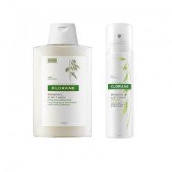Klorane Pack Shampooing sec à l'extrait d'avoine spray 150 ml + Shampooing extra doux au lait d'avoine 200ml