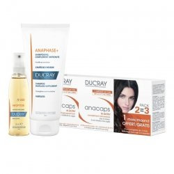 Pack Anti Chute Femme Ducray Neoptide anti-chute lotion 30ml + Shampooing Anaphase 200ml + Anacaps Tri Activ 3x30 gélules