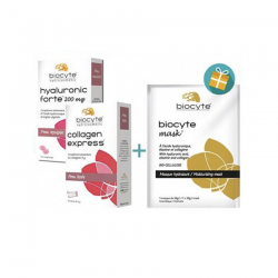 Biocyte Beauty Pack Collagen express + Hyaluronic Forte + Mask