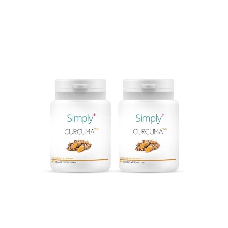SIMPLY+ Duo Pack Curcuma2x60 gélules