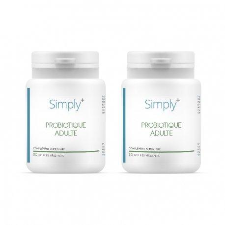 SIMPLY+ DUO PACK Probiotique Adulte 2x30 gélules