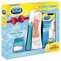 Scholl Lime Electrique Sublime Ongles Velvet Smooth Rose + Huile Ongles Nourrissante