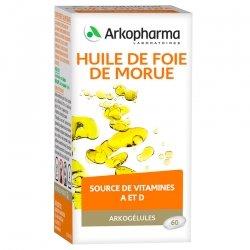Arkogélules Huile de foie de morue 45 gélules végétales