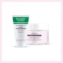 PACK Aphine Gommage exfoliant 250ml + Somatoline Amincissant ventre et hanches advance 1 - 250ml
