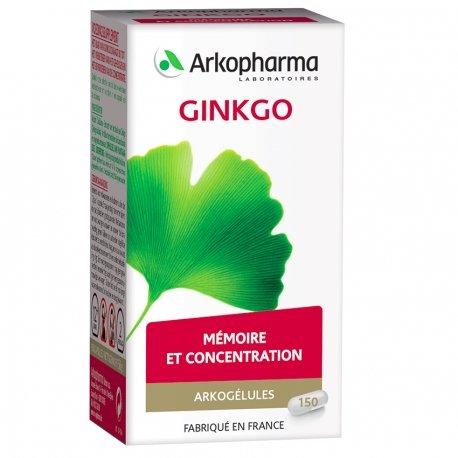 Arkogélules Ginkgo biloba végétales 150 gélules