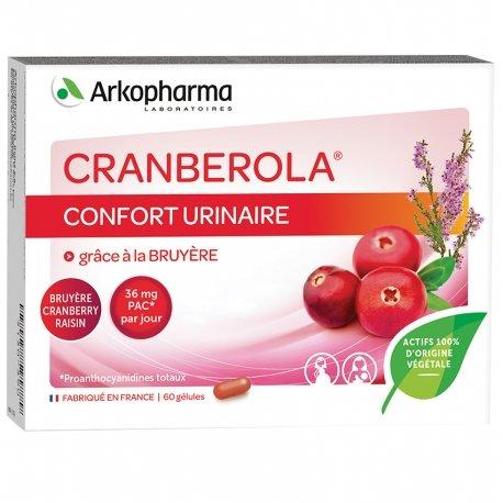 Arkopharma Cranberola confort urinaire 60 gélules