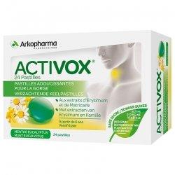 Arkopharma Activox Menthe eucalyptus sans sucre 24 pastilles