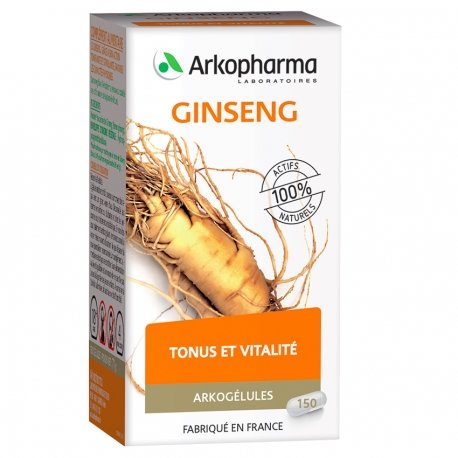 Arkogélules Ginseng 150 gélules végétales