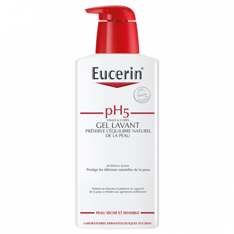 Eucerin Ph5 peau sensible gel lavant flacon pompe 400ml
