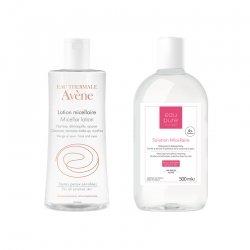 Avene lotion micellaire 400ml + Eau Pure Solution micellaire peau sensible à mixte - visage & yeux 500ml