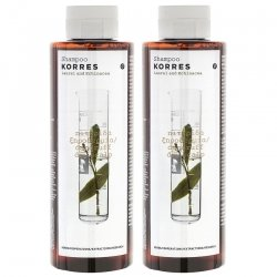 Korres Hair Shampooing Laurier & echinacee 2x250ml Promo
