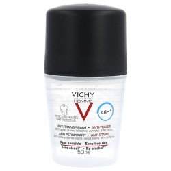 Vichy Homme Déodorant Anti-Transpirant 48h Roll On 50 ml