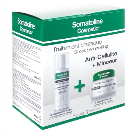 Somatoline Cosmetic cellulite incrustée traitement intensif 150ml + Amincissant 7 nuits 400ml