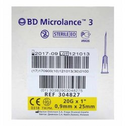 Bd Microlance 3 Aig.20g 1 Iv 0,9x25mm Jaune 1