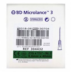 Bd Microlance 3 Aig. 21g 1 1/2 Rb 0,8x40mm Vert 10