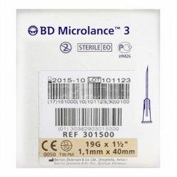 Bd Microlance 3 Aig.19g 1 1/2 Rb 1,1mm 40mm Cr 10