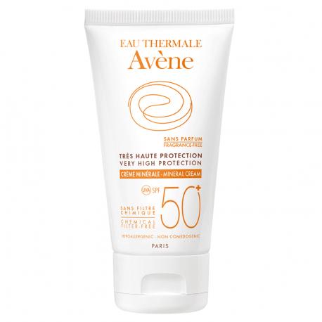 Avene Solaire crème minérale très haute protection SPF50+ tube 50ml