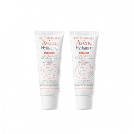 Avene duopack Hydrance optimale riche crème hydratante ip20 tube 40ml
