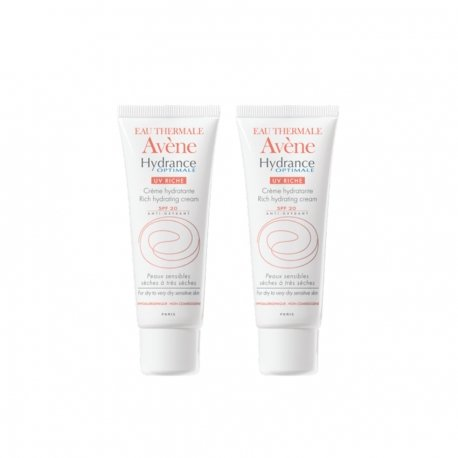 Avene duopack Hydrance optimale riche crème hydratante ip20 tube 40ml