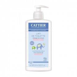 Cattier Bébé Lait de Toilette Visage et Corps 500 ml