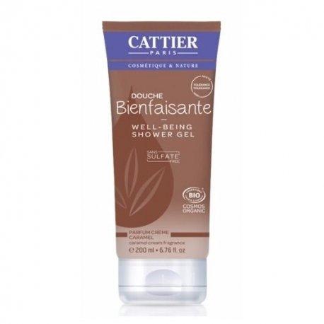 Cattier Gel Douche Bienfaisante Crème Caramel 200ml