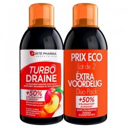 Forte Pharma Turbodraine Minceur Thé Vert Pêche 2x500ml