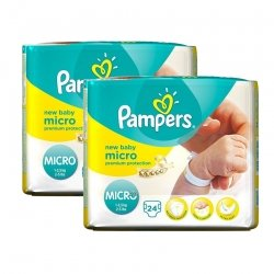 Pampers duopack New baby micro couches dry premature 2x24