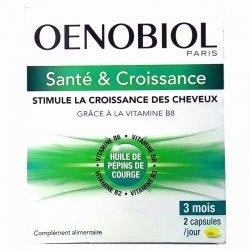 Oenobiol Santé & Croissance Stimule croissance des cheveux 180 capsules