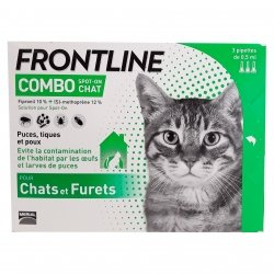 Frontline Combo Spot-On Chat 3 pipettes de 0,5ml