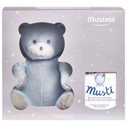 Mustela Coffret Musti Eau de Soin 50ml + Peluche Nounours Bleu
