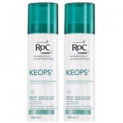 Roc Keops Offre Spéciale Lot de 2 Déodorants Spray Fraîcheur 2x100ml