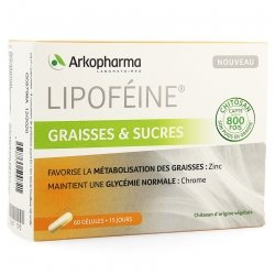 Arkopharma Lipoféine Graisses & Sucres 60 gélules