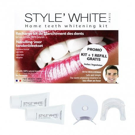 Style White Kit Blanchiment Dents + Recharge GRATUITE