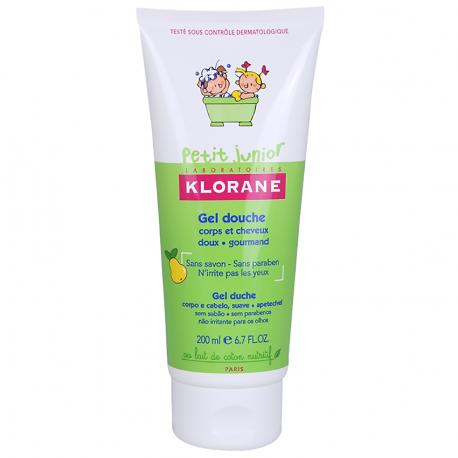 Klorane petit junior gel douche corps & cheveux parfum poire 200 ml