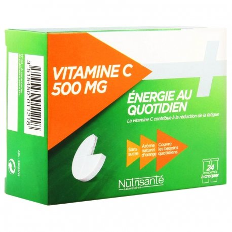 Nutrisante Vitamine C tube 2x12 comprimés à croquer 500mg