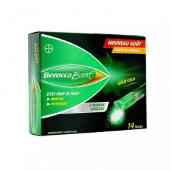 Bayer Berocca Boost Coup De Fouet Mental Physique Cola x14 Sticks