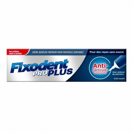 fixodent pro plus anti particules colle pour dentier 35ml. Black Bedroom Furniture Sets. Home Design Ideas