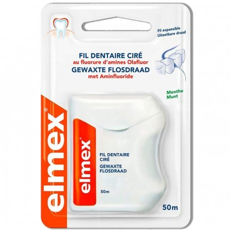 Elmex Fil Dentaire Ciré 50m