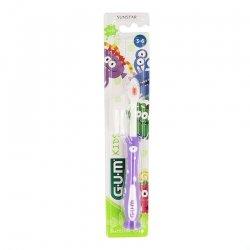 Gum Kids Brosse A Dents 3-6 Ans R901 - Couleurs Variables