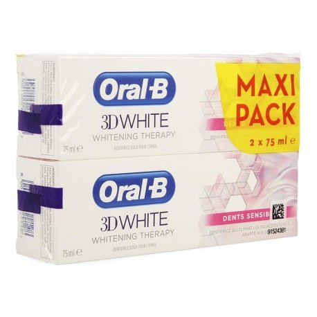 Oral-B Dentifrice 3D White Sensitive 2x75ml
